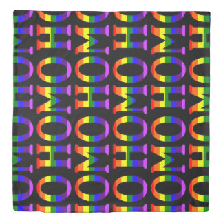 Colorful Gay Rainbow Bold Homo Pattern Duvet Cover