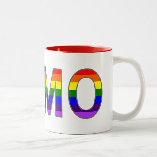 Colorful Gay Rainbow Colors Homo Two-Tone Coffee Mug