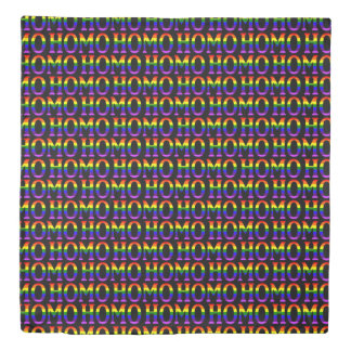 Colorful Gay Rainbow Homo Pattern Duvet Cover