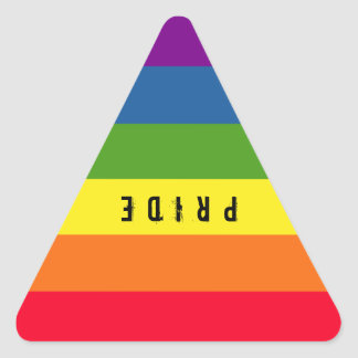 Colorful Gay Rainbow Pride Triangle Triangle Sticker