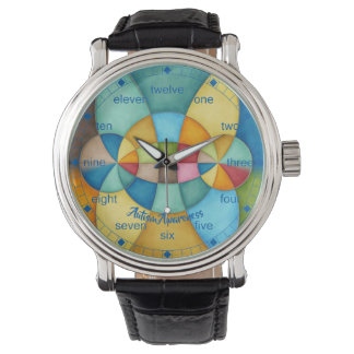 Colorful Geometric Abstract Autism Awareness Watch