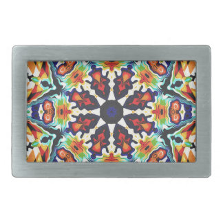Colorful Geometric Abstract Belt Buckle