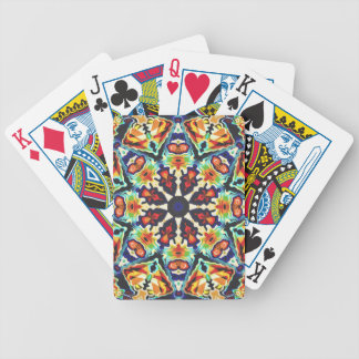 Colorful Geometric Abstract Bicycle Playing Cards