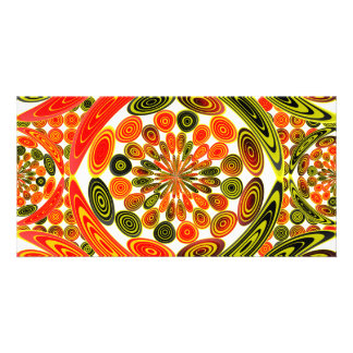 Colorful geometric abstract customized photo card