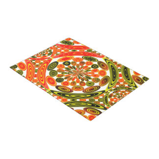 Colorful geometric abstract doormat