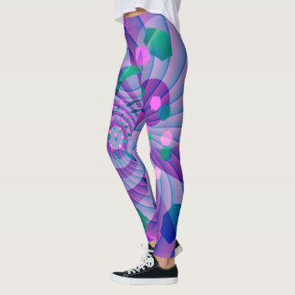 Colorful Geometric Abstract Leggings