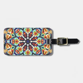 Colorful Geometric Abstract Luggage Tag