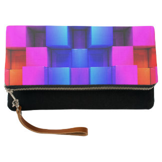 Colorful Geometric Abstract Pattern Clutch