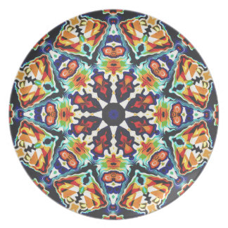 Colorful Geometric Abstract Plate