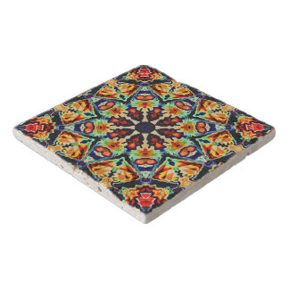Colorful Geometric Abstract Trivet