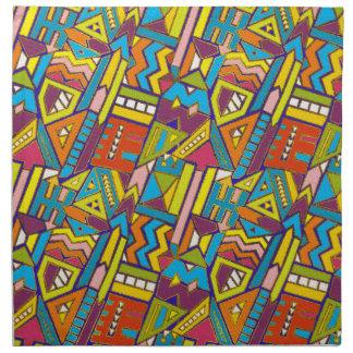 Colorful Geometric African Tribal Pattern Napkin