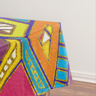Colorful Geometric African Tribal Pattern Tablecloth