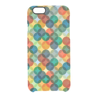 Colorful Geometric Circles Pattern Clear iPhone 6/6S Case