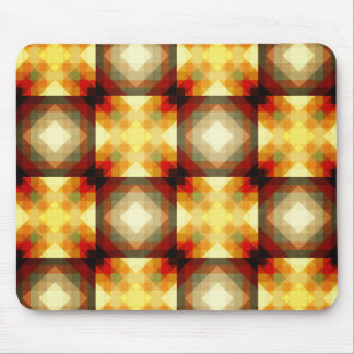 Colorful Geometric Collage Mouse Pad