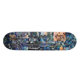Colorful Geometric Collage Skateboard Deck