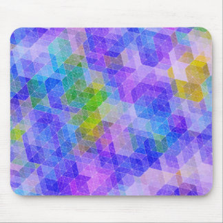 Colorful Geometric Constellation Mouse Pad