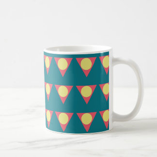 Colorful geometric design mug
