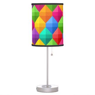 Colorful Geometric Diamond Pattern Table Lamps