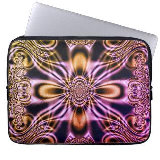 Colorful Geometric Fractal Art Laptop Sleeve