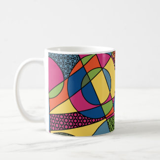 Colorful Geometric Graphic in 2017 Pantone Palette Coffee Mug