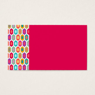 Colorful Geometric Ikat Business Card