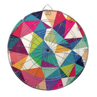 Colorful Geometric Kaleidoscope Dartboard