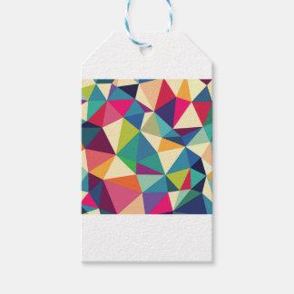 Colorful Geometric Kaleidoscope Gift Tags