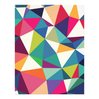 Colorful Geometric Kaleidoscope Letterhead