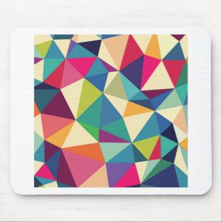 Colorful Geometric Kaleidoscope Mouse Pad