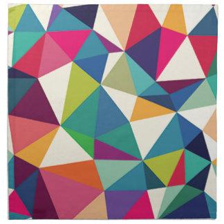Colorful Geometric Kaleidoscope Napkin