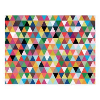 Colorful Geometric Kaleidoscope Pattern Postcard