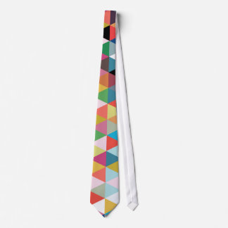 Colorful Geometric Kaleidoscope Patterned Tie