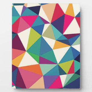 Colorful Geometric Kaleidoscope Plaque