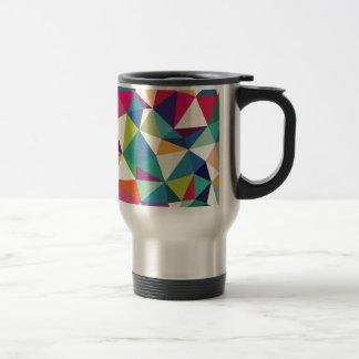 Colorful Geometric Kaleidoscope Travel Mug