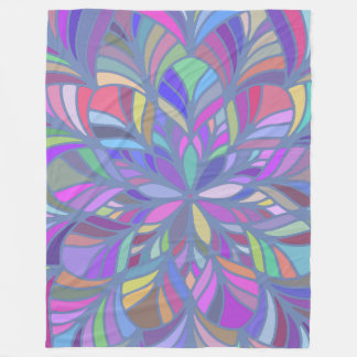Colorful Geometric Mandala Closeup Fleece Blanket