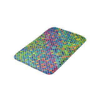 Colorful Geometric Mosaic Pattern 2 Bath Mat