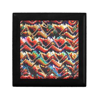 Colorful Geometric Motif Trinket Boxes