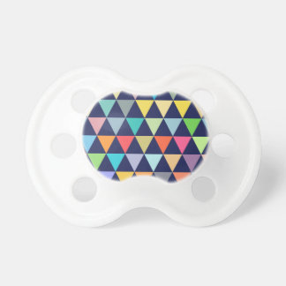 Colorful geometric pacifier