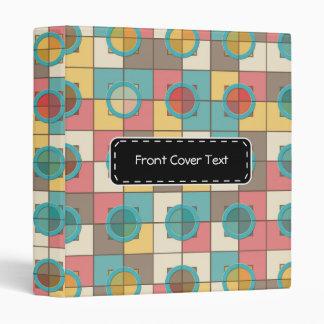 Colorful geometric pattern 3 ring binder