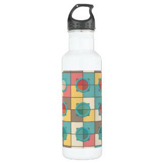 Colorful geometric pattern 710 ml water bottle