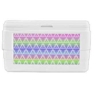 Colorful Geometric Pattern Chest Cooler