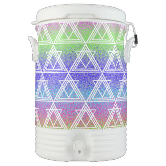 Colorful Geometric Pattern Drinks Cooler