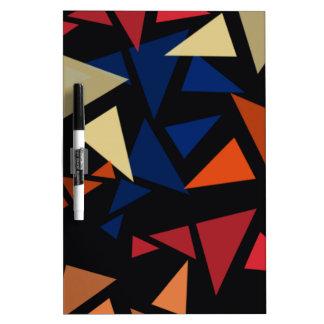 Colorful geometric pattern dry erase board