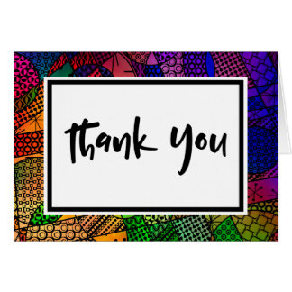 Colorful Geometric Pattern, Event Thank You Card