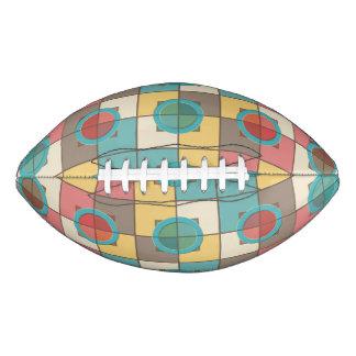 Colorful geometric pattern football