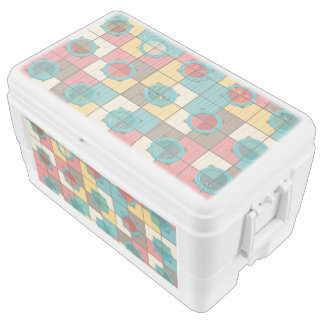 Colorful geometric pattern ice chest