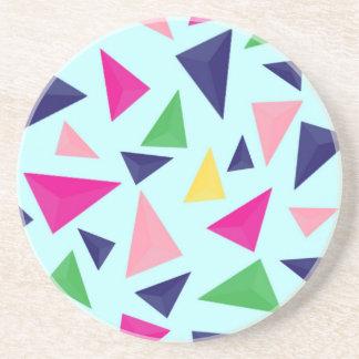 Colorful geometric pattern II Coaster