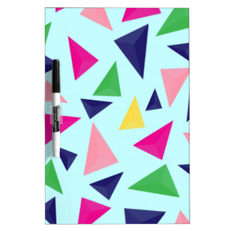 Colorful geometric pattern II Dry Erase Board
