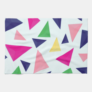 Colorful geometric pattern II Kitchen Towel