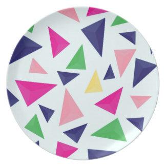 Colorful geometric pattern II Plate